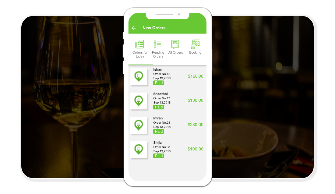 Restaurant food Delivery app