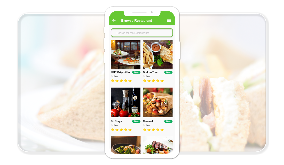 customer app for food delivery